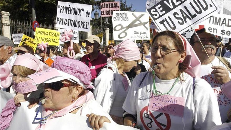Arranca en Madrid la duodécima 'marea blanca' contra privatización sanitaria
