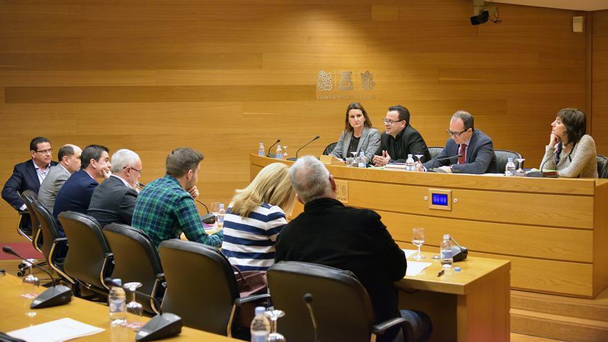 Un momento de la comisión de RTVV en las Corts Valencianes