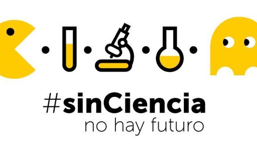 #sinCiencia no hay futuro. Logo creado por Enrique Herrero y Antonio Martínez Ron (lainformacion.com)