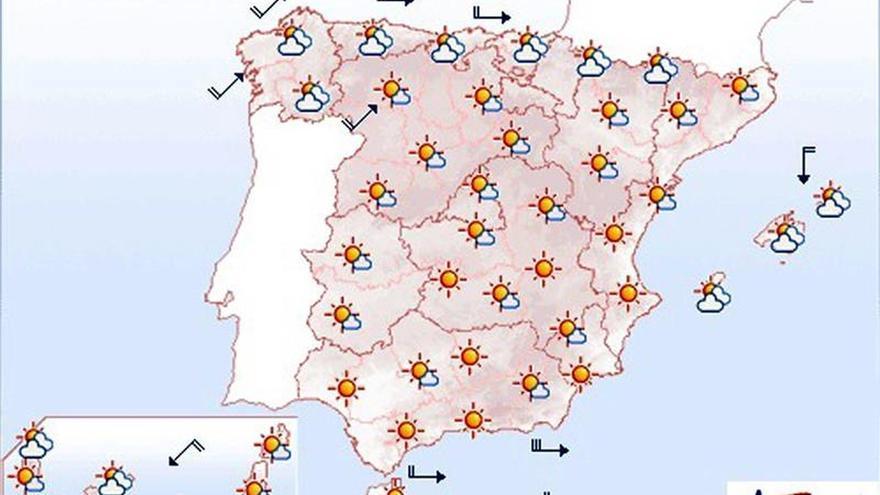 Mañana, lluvias en el norte de la Península y descenso generalizado de temperaturas