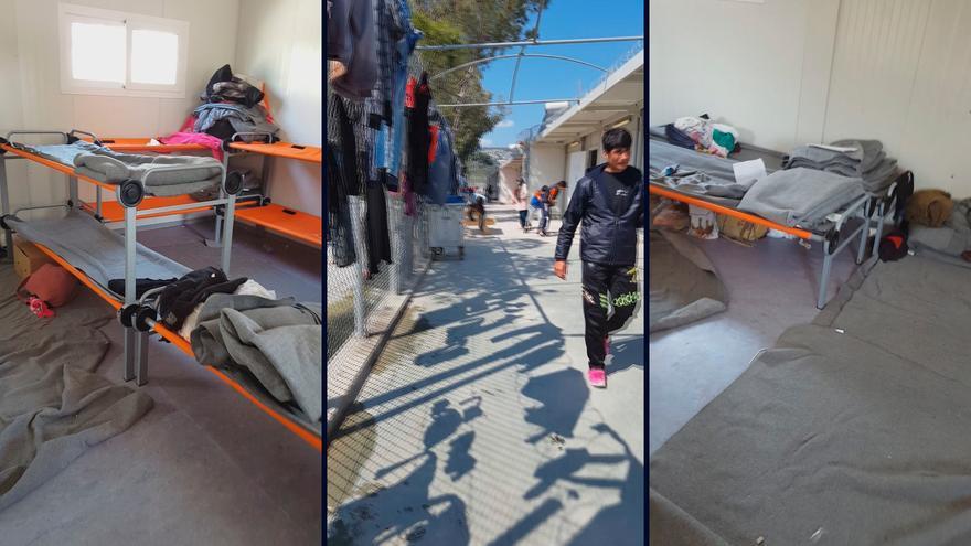 Imagenes tomadas desde el interior del centro de detención de Moria, donde retienen a todos los refugiados y migrantes que llegan a la isla de Lesbos.   Lluis Miquel Hurtado