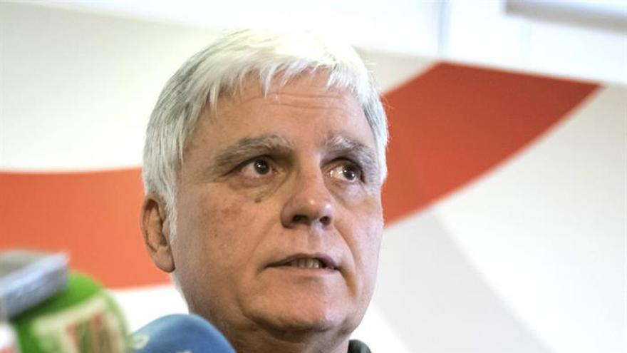 El secretario general del PSC-PSOE, José Miguel Pérez. (EFE/ÁNGEL MEDINA G.).