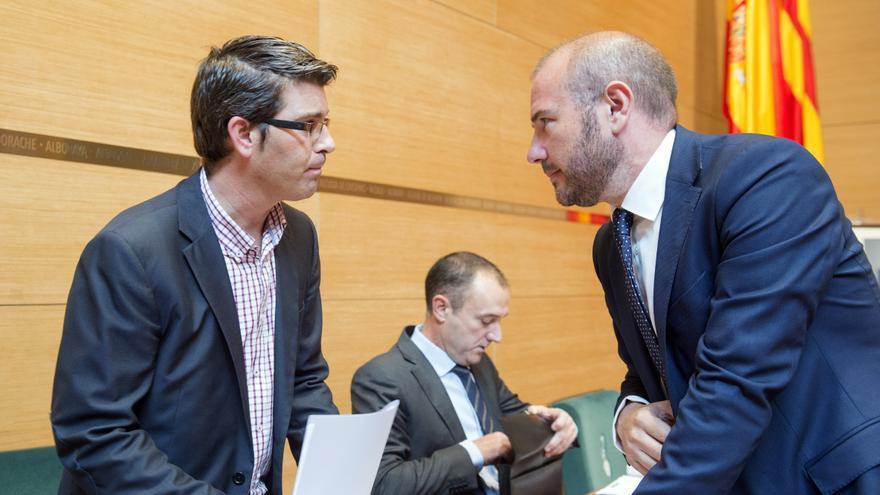 Jorge Rodríguez, presidente de la Diputación, y Toni Gaspar, diputado de Hacienda