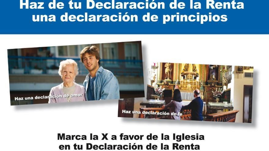 Campaña para la declaración de la renta: marca la X de la Iglesia. \ www.portantos.es
