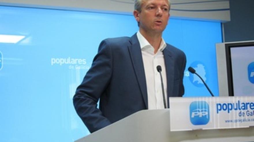 El secretario general del PPdeG, Alfonso Rueda