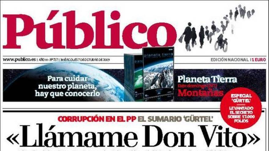 El 'caso Gürtel' invade las portadas de los principales periódicos nacionales #7