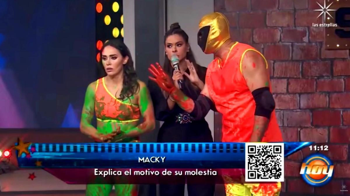 Macky González y Tinieblas Jr. en 'Hoy'