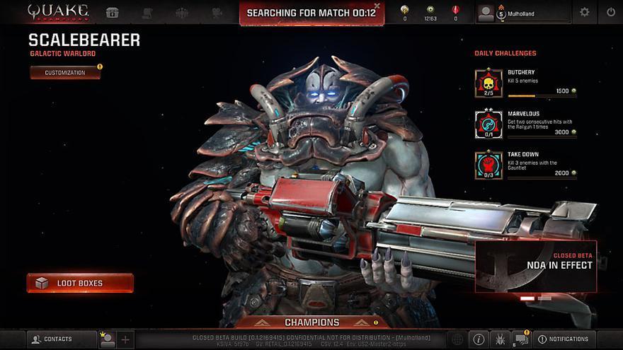 Captura de Scalebearer, campeón de Quake Champions