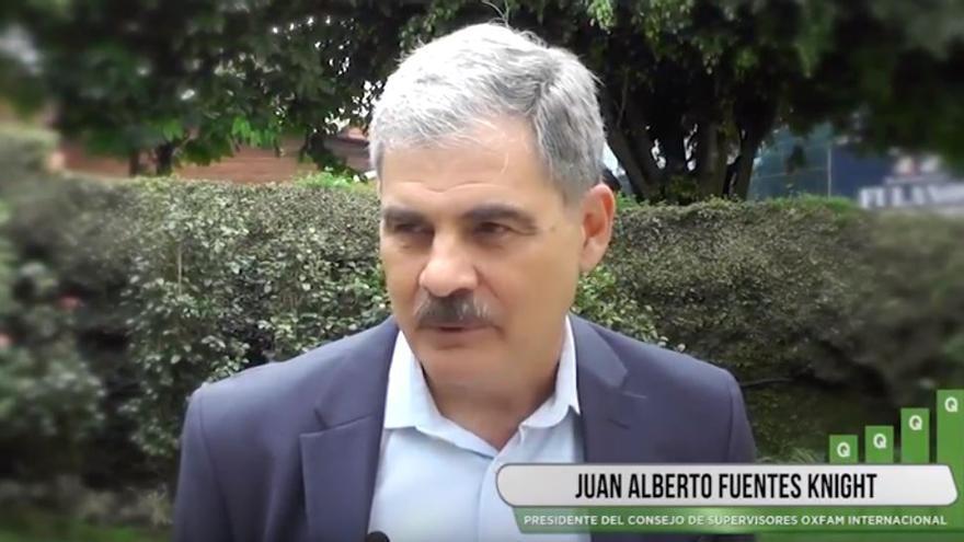Captura de un vídeo de Oxfam en el que aparece Juan Alberto Fuentes