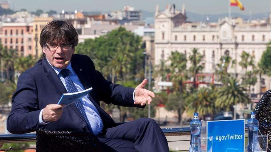 Generalitat activa cuenta de Twitter sobre referéndum tras bloqueo de webs