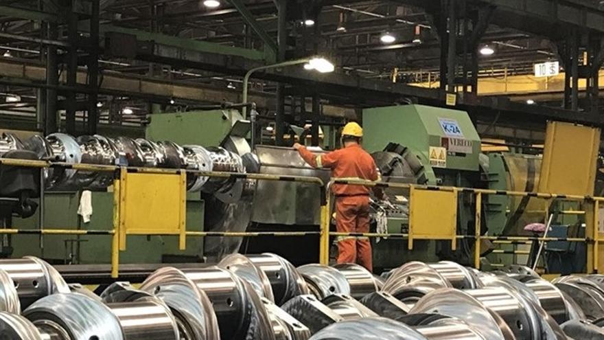 Imagen de archivo de una fábrica de componentes