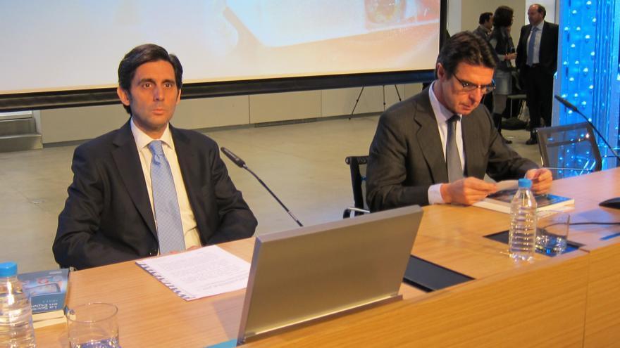 José María Alvarez Pallete, consejero delegado de Telefónica y José Manuel Soria, ministro de Industria