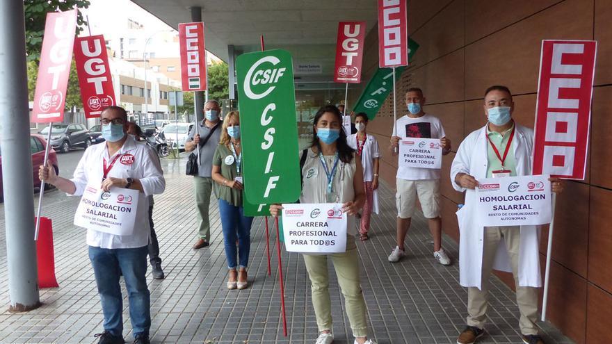 Protesta de los sindicatos sanitarios.