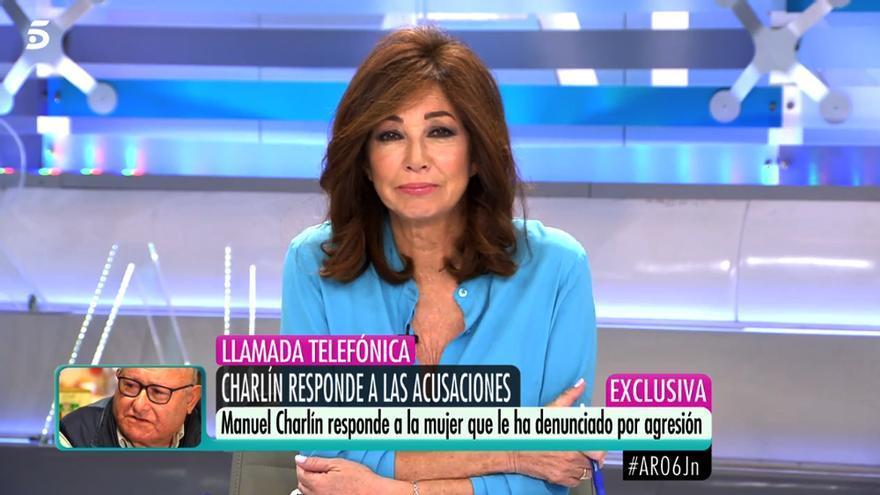 Ana Rosa Quintana habla con Manuel Charlín en Telecinco