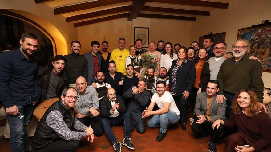 Los cocineros reunios en Zafra