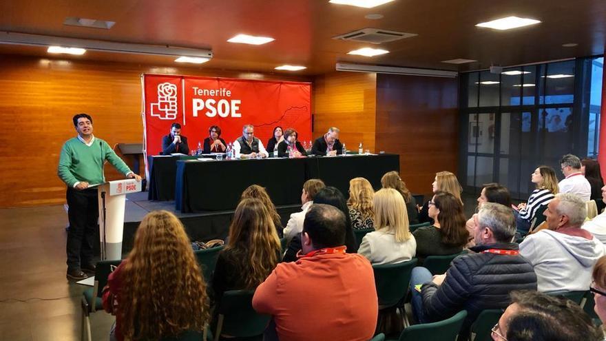 Reunión del Comité Insular del PSOE en Tenerife, este martes en el Hotel Escuela de la capital tinerfeña