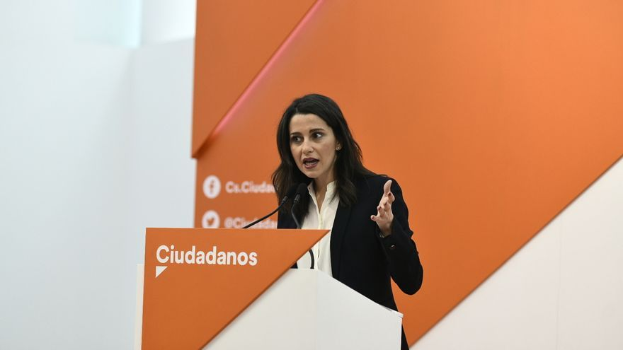 Inés Arrimadas en la sede de Ciudadanos