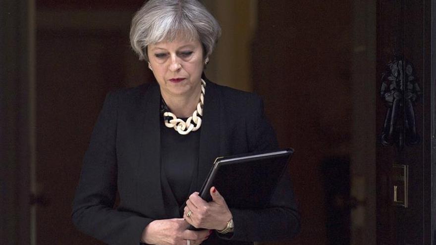May anuncia duras medidas contra el terrorismo a cuatro días de los comicios