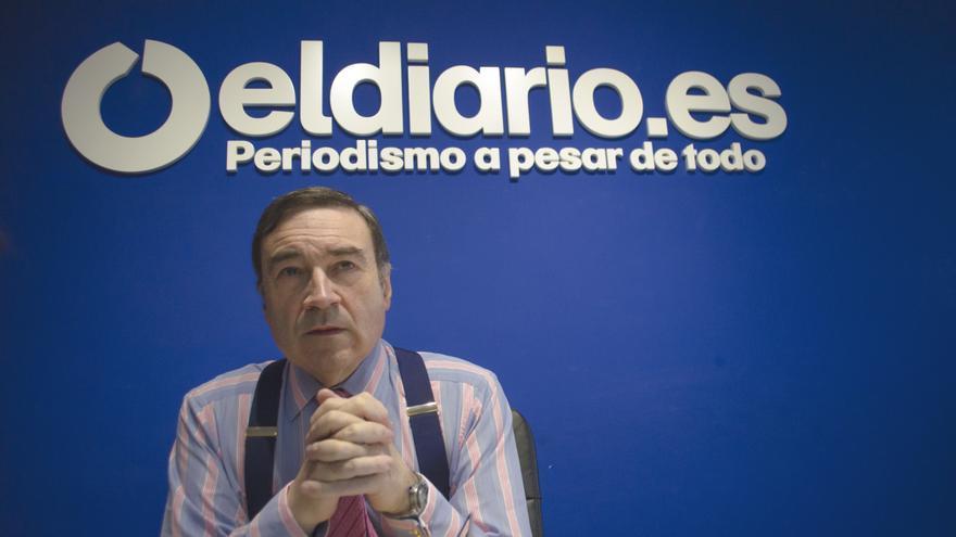 Pedro J. Ramírez en la redacción de eldiario.es \ Alejandro Navarro