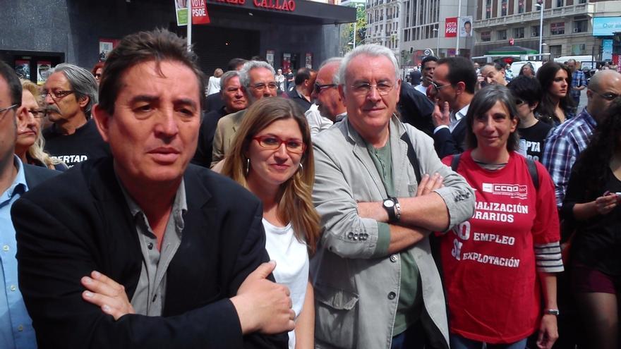 """Lara pide a la izquierda de Madrid que vote a IU pues es clave para echar al PP, una """"suma de bandas de trincar"""""""