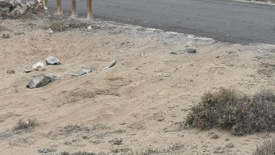 Daños en el arenal de Tufia denunciados por el Ayuntamiento de Telde