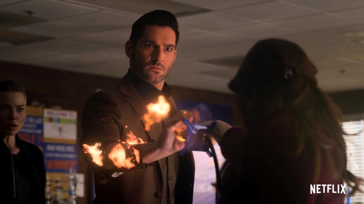 Escena de los nuevos capítulos de 'Lucifer'