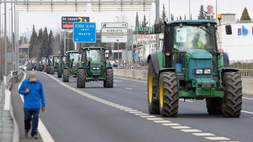 Más de 700 tractores han salido este viernes a las carreteras en Tarragona, Murcia y Guadalajara