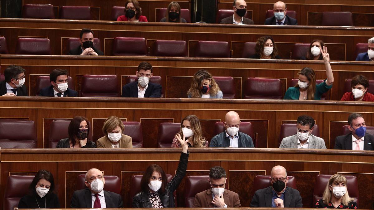Votación en el Congreso de los Diputados, este jueves 11 de marzo de 2021.