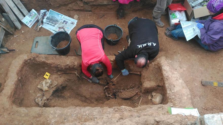 Exhumación en el cementerio de Guadalajara este año. FOTO: Asociación para la Recuperación de la Memoria Histórica