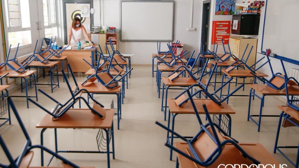 Un aula del colegio Salvador Vinuesa