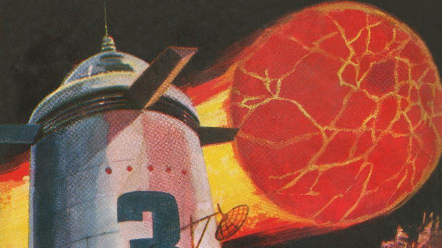 El Sol desaparece tras el choque de un planeta de helio y los hombres tienen que buscar una alternativa para vivir. Eso sucede en '¡Ha muerto el Sol!' (Imagen: Cedida por José Carlos Canalda)