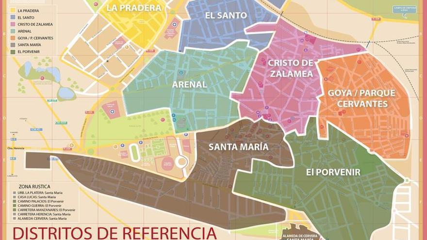 Distritos participación Alcázar de San Juan