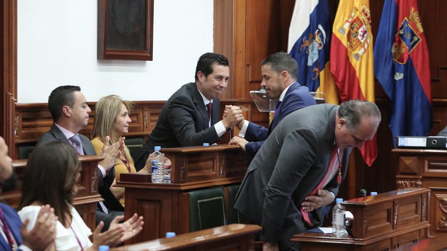 El socialista Alejandro Ramos y el actual alcalde de Telde, Héctor Suárez.