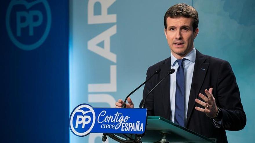 """Casado: Sánchez pone a España en manos de independentistas y """"batasunos"""""""