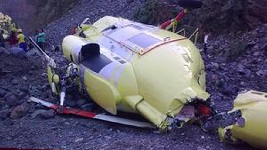 El helicóptero accidentado. (ACFI PRESS)