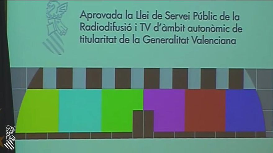 La nueva imagen que aparece en el dial que ocupaba Canal 9.