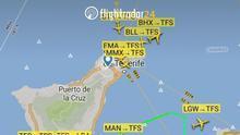 """Los controladores aéreos tildan de situación """"tensa"""" la vivida este domingo por culpa del temporal en las Islas"""