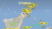 Vuelos desviados desde Tenerife a Gran Canaria