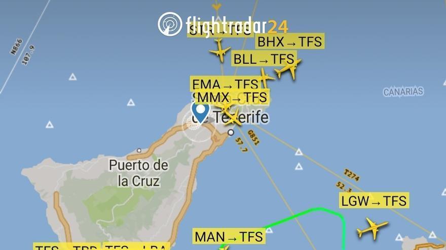 Se desvían los vuelos en Tenerife Norte y Sur