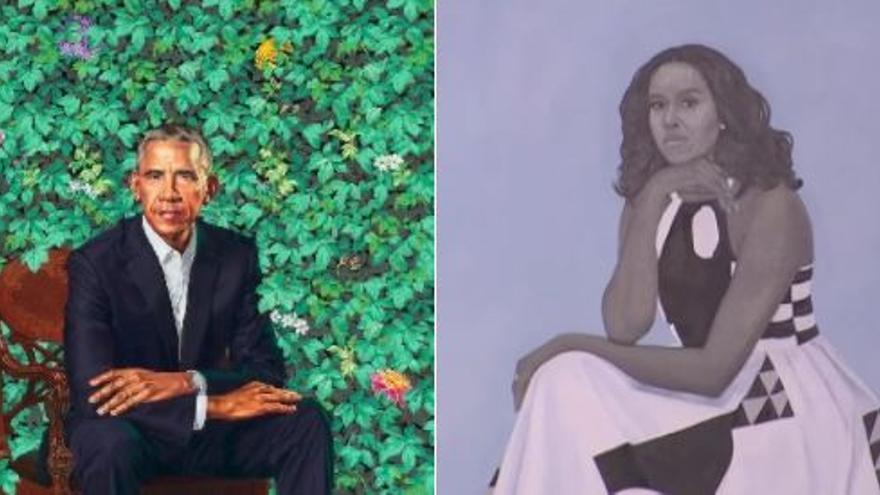 Los retratos de los Obama