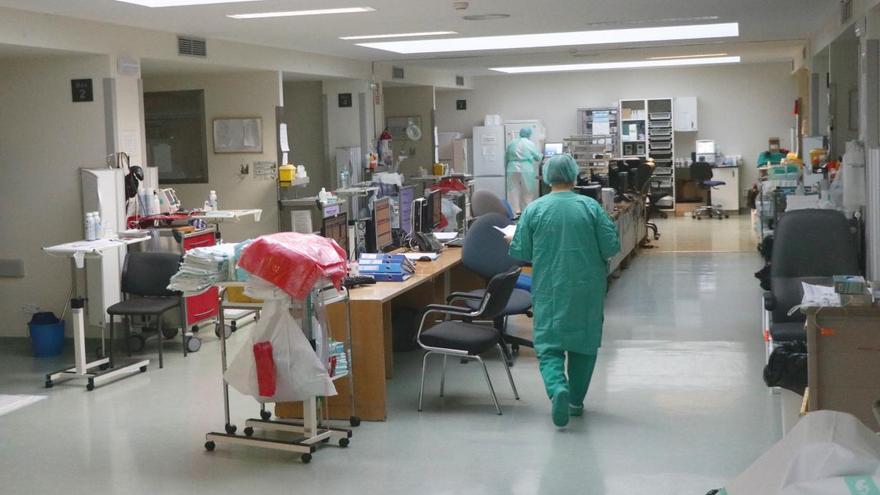 Zona UCI en el Hospital de Ciudad Real