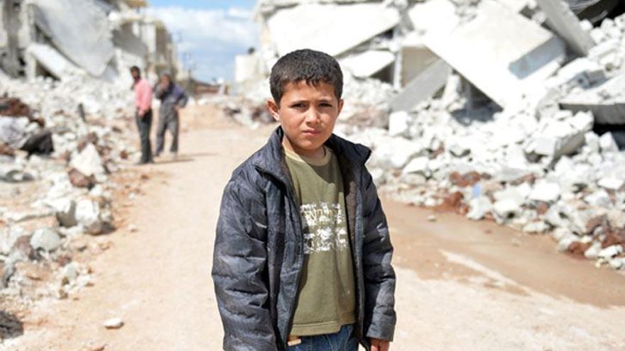 Uno de los niños protagonistas del documental 'Nacido en Siria'.
