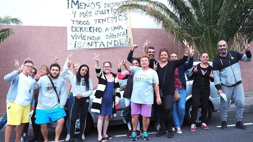 Protesta de vecinos de Añaza.