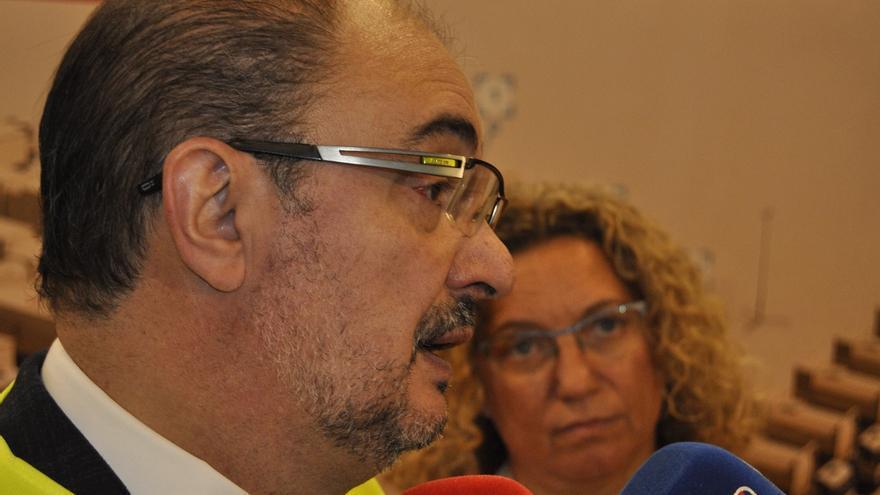"""Lambán dice que Podemos """"no quiere hacer una moción"""" de censura sino que """"persigue otros objetivos"""""""