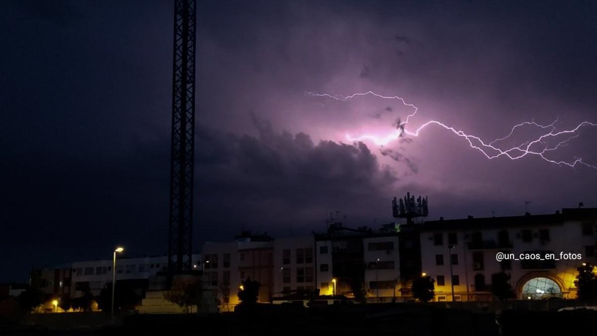 Tormenta sobre Córdoba