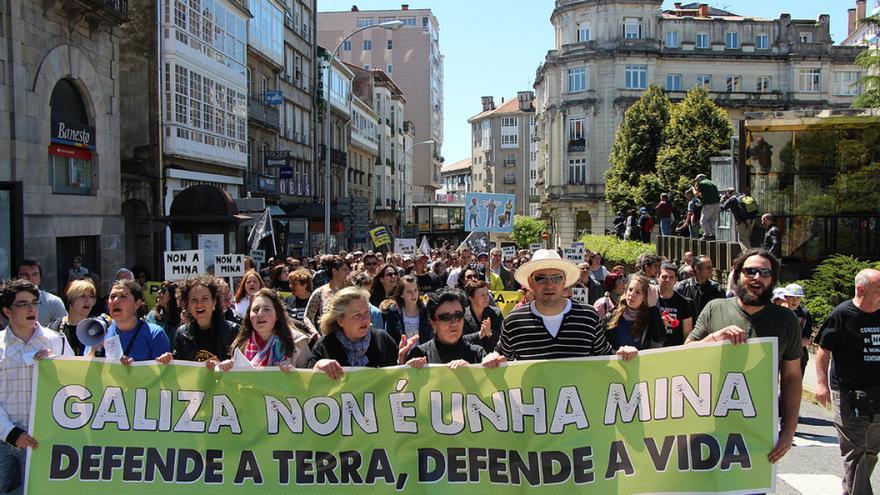 Manifestación contra la megaminería en Santiago