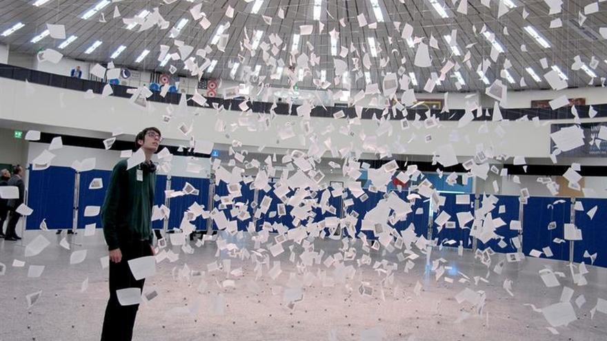 Una instalación de una artista uruguaya alerta en Viena del cambio climático