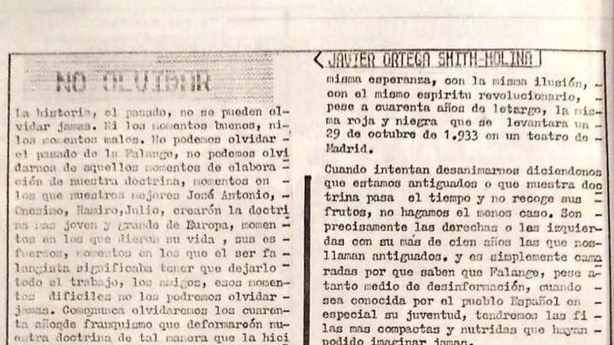 Artículo completo firmado por Ortega Smith Molina