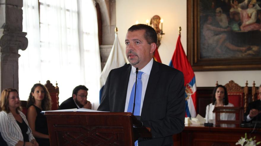 Juanjo Cabrera en su toma de posesión este sábado.
