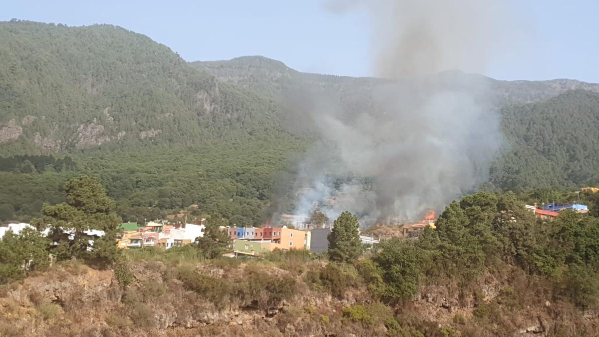 Conato de incedio delcarado este sábado en Pinolere, Tenerife